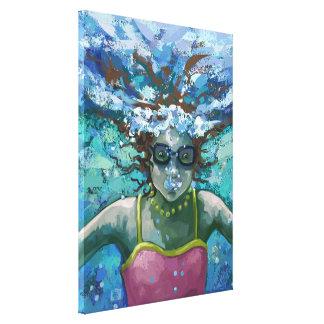 Under Water Swim Canvas Print
