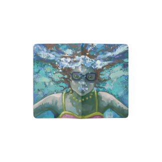 Under Water Swim Pocket Moleskine Notebook Cover With Notebook