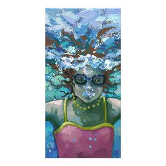 Under Water Swim Picture Card