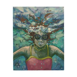 Under Water Swim Wood Wall Art