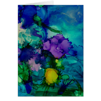 Under Water World Abstract Card