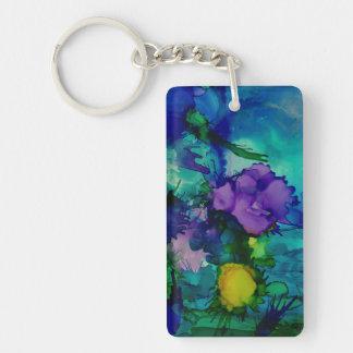 Under Water World Abstract Keychain