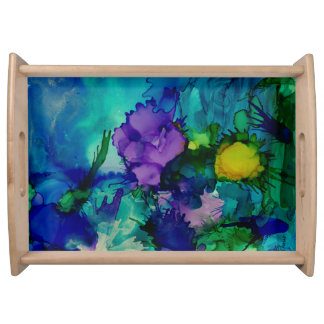 Under Water World Abstract Serving Tray