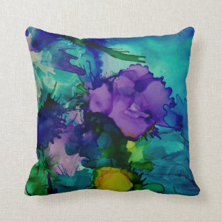 Under Water World Abstract Throw Pillow