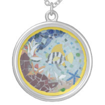 Under Water World Moonfish Mosaic Necklace