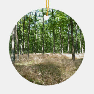 under wood and carpet the graminaceous ones with Double-Sided ceramic round christmas ornament