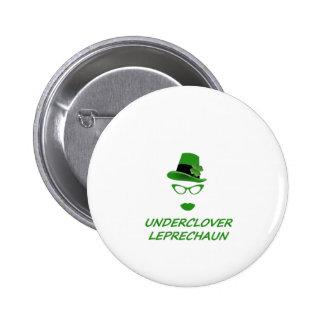 Underclover Leprechaun 01 Pinback Button