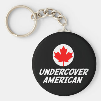 Undercover American Keychain