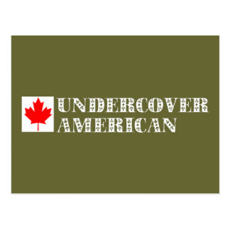 Undercover American Postcard