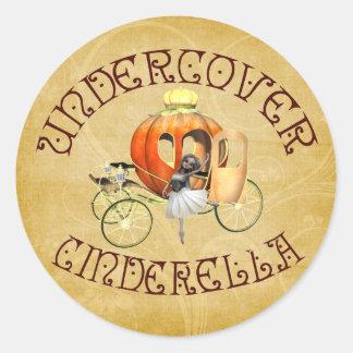 Undercover Cinderella Classic Round Sticker