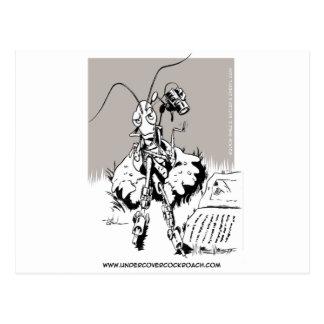 Undercover Cockroach Postcard