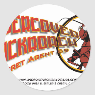 Undercover Cockroach Title Classic Round Sticker