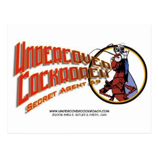 Undercover Cockroach Title Postcard