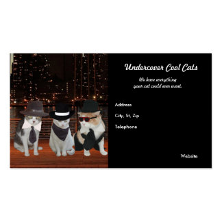 Undercover, Cool, Secret Agent Cats Double-Sided Standard Business Cards (Pack Of 100)
