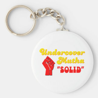 Undercover Mutha Solid Keychain