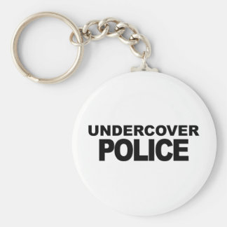 Undercover Police Keychain