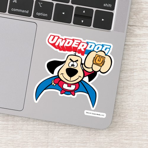 Underdog   Flying With His Special Ring Sticker