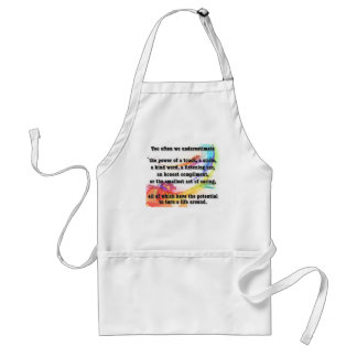 underestimate the power adult apron