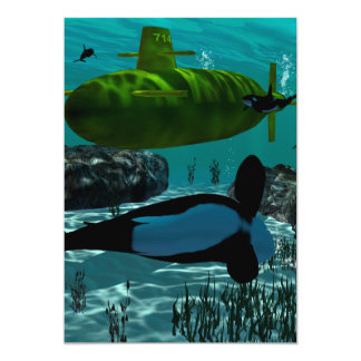 "Underewater, Submarine 5"" X 7"" Invitation Card"