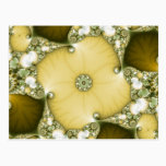 Underflower Fractal Postcard
