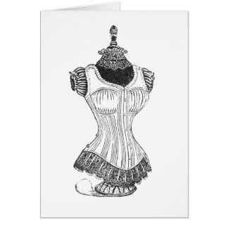 Undergarment Corset Mannequin Card