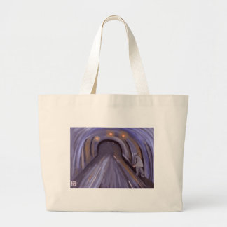 UNDERGROUND AT MURTON COLLIERY DURHAM LARGE TOTE BAG