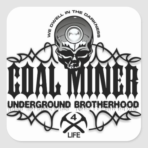UNDERGROUND BROTHERHOOD SQUARE STICKERS