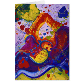 Underground – Crimson & Iris Hearts Greeting Cards