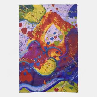 Underground – Crimson & Iris Hearts Hand Towels
