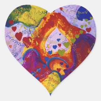 Underground – Crimson & Iris Hearts Heart Sticker