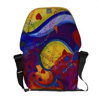 Underground – Crimson & Iris Hearts Messenger Bags