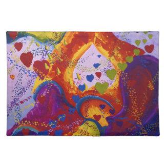 Underground – Crimson & Iris Hearts Place Mats