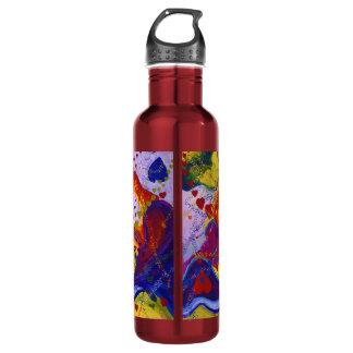Underground – Crimson & Iris Hearts Water Bottle