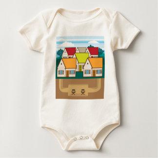 Underground hideout baby bodysuit