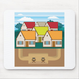 Underground hideout mouse pad