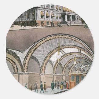 Underground Loop Station at City Hall, New York Classic Round Sticker