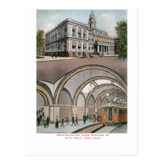 Underground Loop Station at City Hall, New York Postcard