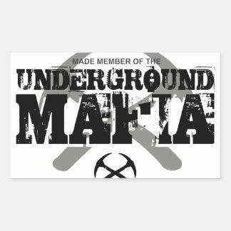 UNDERGROUND MAFIA RECTANGULAR STICKER