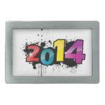 Underground New year design . 2014 Rectangular Belt Buckle