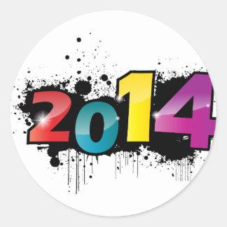 Underground New year design . 2014 Classic Round Sticker
