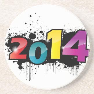 Underground New year design 2014 Drink Coasters