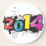 Underground New year design . 2014 Drink Coasters