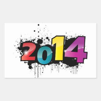 Underground New year design . 2014 Rectangular Sticker