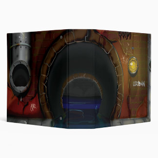Underground Sewers Tunnel Cartoon Binder