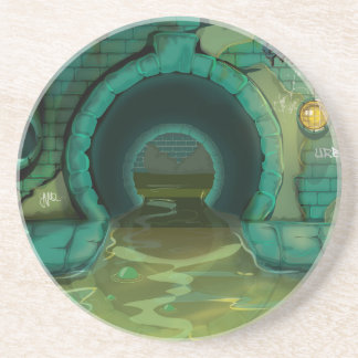 Underground Sewers Tunnel Cartoon Drink Coaster