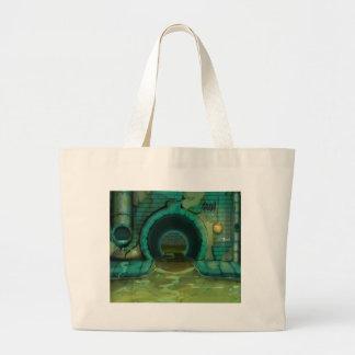 Underground Sewers Tunnel Cartoon Jumbo Tote Bag