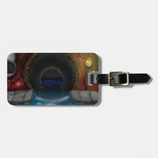 Underground Sewers Tunnel Cartoon Luggage Tag