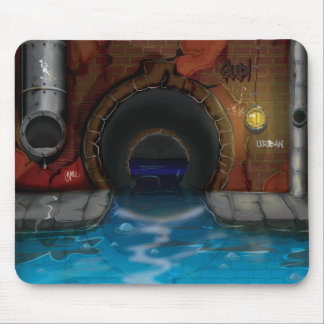 Underground Sewers Tunnel Cartoon Mouse Pad