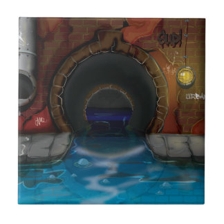 Underground Sewers Tunnel Cartoon Tile