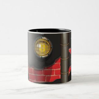 Underground Sewers Tunnel Cartoon Two-Tone Coffee Mug
